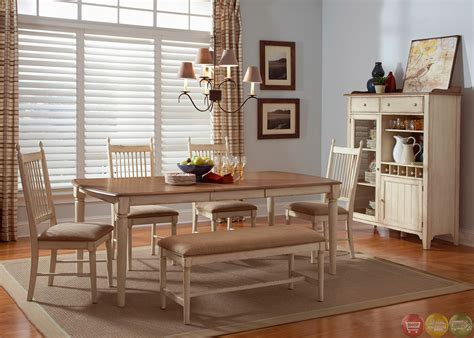 dining room sets with benches cottage cove bench seating casual dining room set