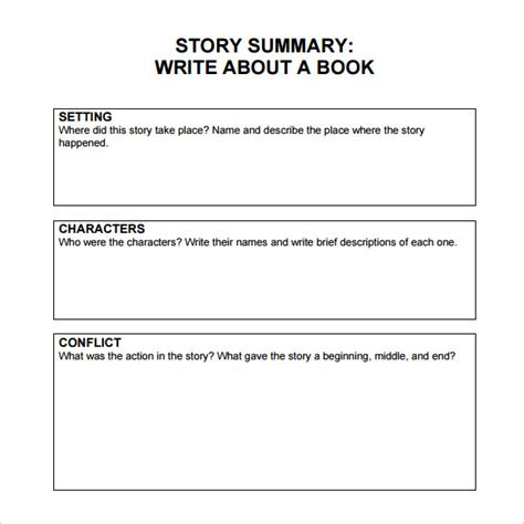 sle book summary template 5 free documents download