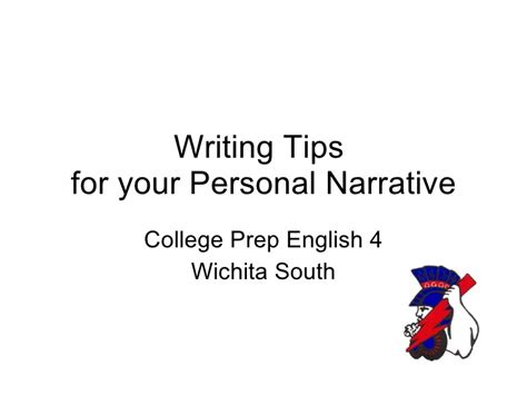 Tips For Writing A Personal Essay by Writing Tips For The Personal Narrative