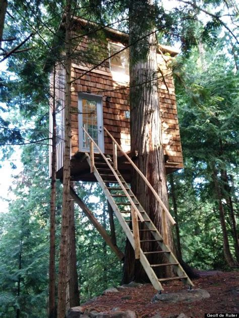 tiny tree house tiny house treehouse in pender island is stability for owner