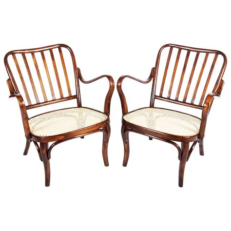thonet armchairs no 752 by josef frank at 1stdibs