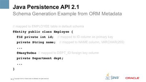 tutorial java persistence api the java ee 7 platform productivity html5 at san