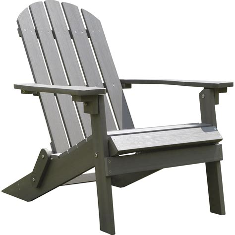 stonegate designs folding resin adirondack chair gray model   northern tool equipment