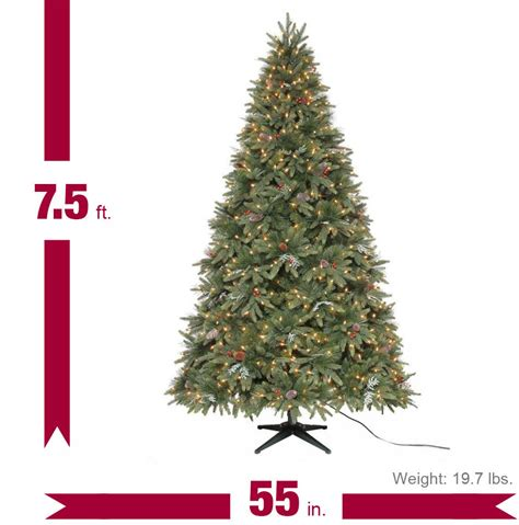 martha stewart alexander 75 ft christmas tree reviews martha stewart living 7 5 ft andes fir set artificial tree with 750 clear