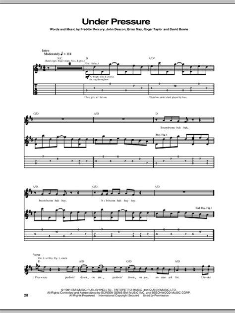 piano tutorial under pressure under pressure sheet music direct