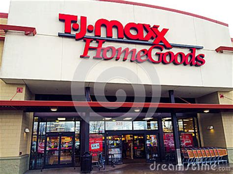 tj maxx home goods eugene or editorial stock image