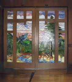 Craftsman entry doors stained glass fine art doors handmade