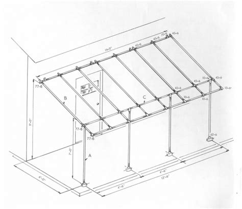 Awning Plans awning frame project simplified building