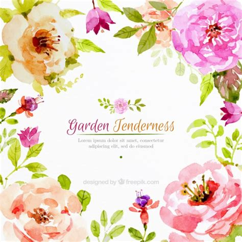 free vector watercolor flowers realistic watercolor flowers background free vector ai