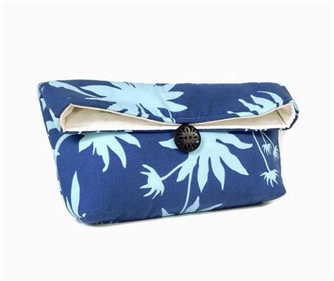 Handmade Makeup Bag - handmade makeup bag blue clutch purse great for travel