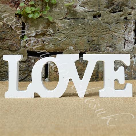new wooden free standing letters words home