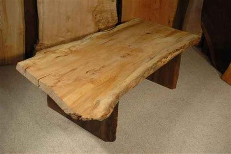 Spalted Maple Slab Coffee Table: Dumond's Custom Made Furniture