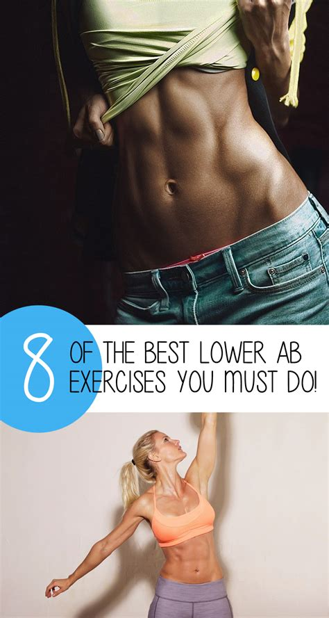 8 best lower ab exercises to flatten your stomach