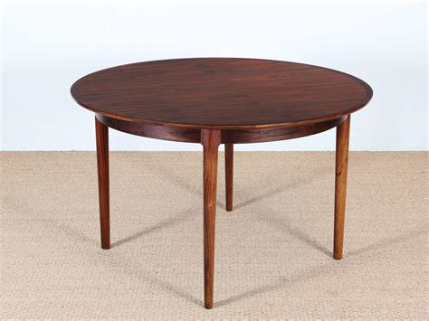 modern round dining room tables mid century modern danish extendable round dining table in