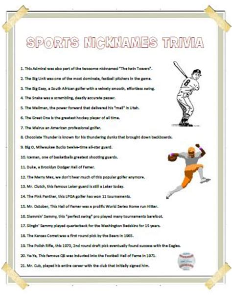 printable sports quiz sports quiz for kids printable autos post