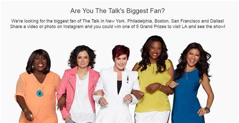 Thetalk Com Giveaways - win a 3 day getaway to join the ladies of the talk in la 171 cbs new york
