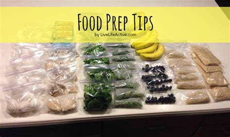 Readers Week 2007 Dishes A Great Tip On Keeping Your During The Warmer Months food prep tips live active fitness
