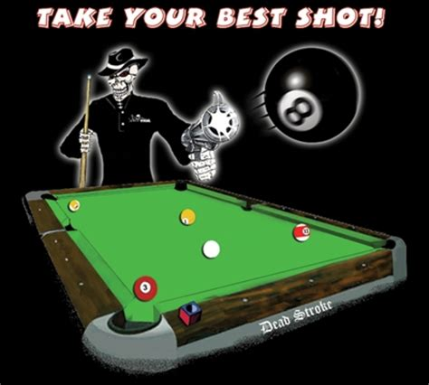 Kaos Polokerah Dead Pool Big Size 2xl 3xl 4xl dead stroke pool t shirt best mueller s billiard dart supplies