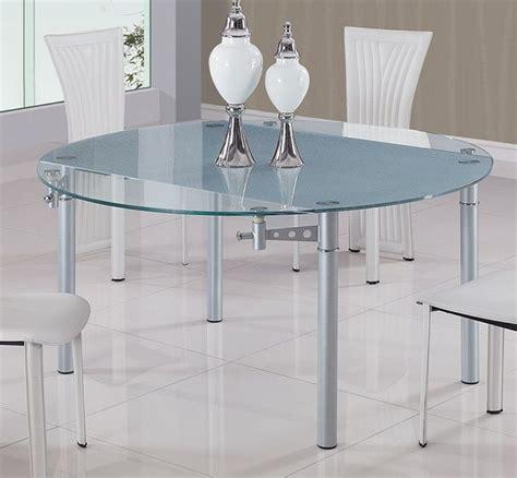 Glass Top Metal Legs Modern Dining Table Glass Top Contemporary Dining Table With Metal Legs Torrance California Gf135dt