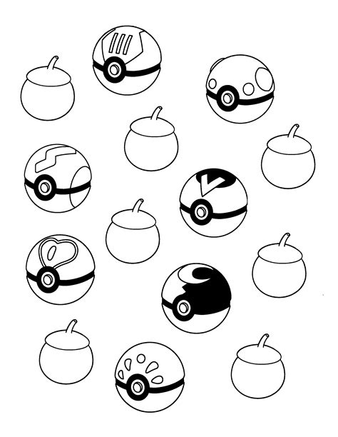 all pokeballs coloring pages coloring pages
