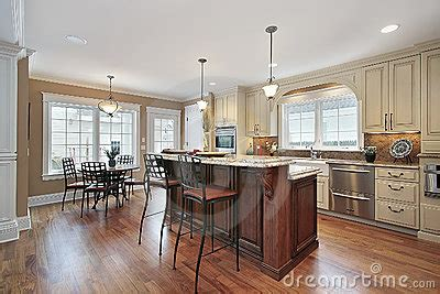 two tier kitchen island designs kitchen with two tiered island royalty free stock photos image 13174178