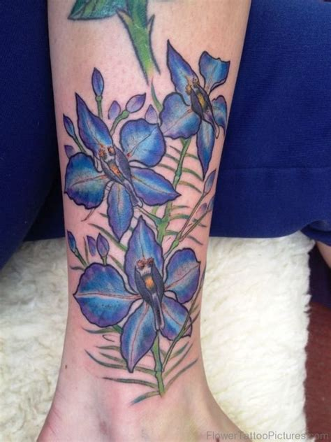delphinium tattoo 45 fantastic larkspur flower tattoos