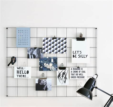 Peg Board Designs steel wire mesh noticeboard minimalist steel and cleaning