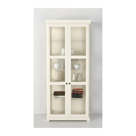 door cabinet liatorp glass door cabinet white 96x215 cm ikea