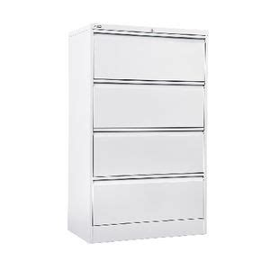 GO 4 Drawer Lateral Filing Cabinet White   Officeworks