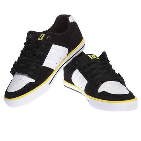 scarpe dc shoes tby black white yellow acquista