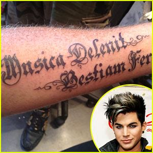 adam lambert tattoos adam lambert debuts new arm adam lambert