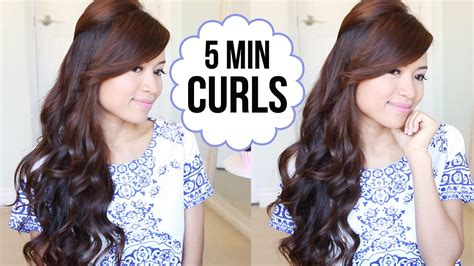 hairstyles for curling your hair hairstyle hack how to curl your hair in 5 minutes youtube