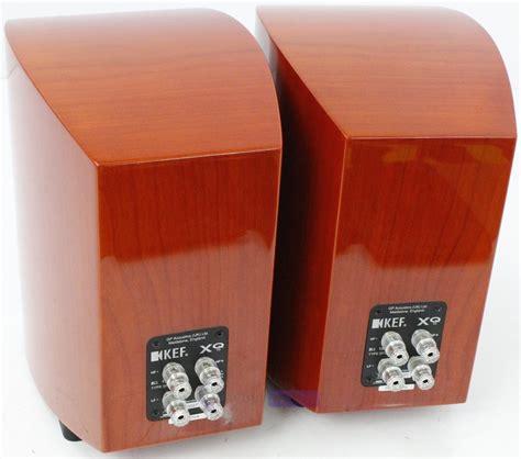 kef xq10 bookshelf speakers warm cherry whybuynew
