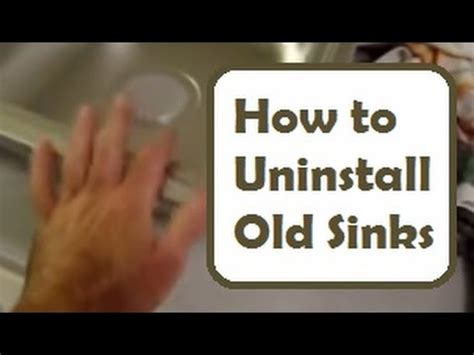 How To Remove A Kitchen Sink Sink Removal And Installation How To Disconnect And Remove A Kitchen Sink