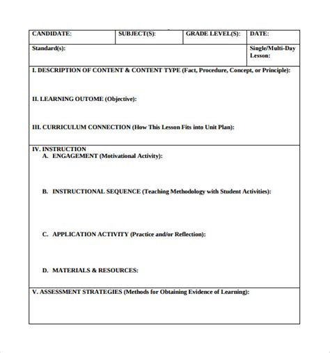 lausd lesson plan template 18 lesson plan templates free sle exle