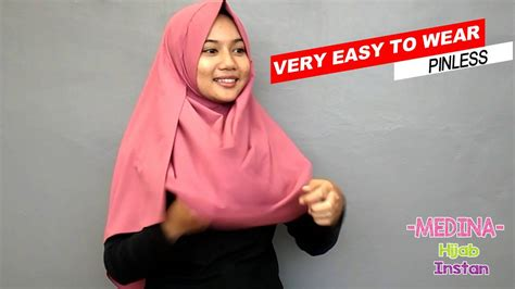 Pasmina Instan Aisha cara memakai instan dua lubang tutorial