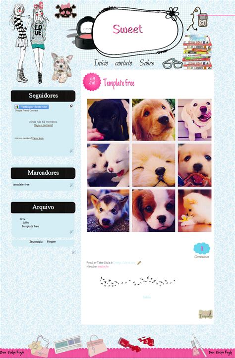 templates blogger personalizados photoscape brushes template personalizado free sweet