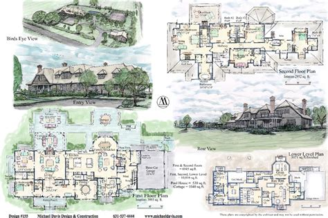 Large Estate Home Plans by Mansion Floor Plans