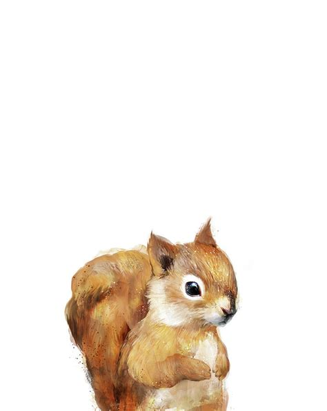 Home Decor Hamilton little squirrel painting by amy hamilton