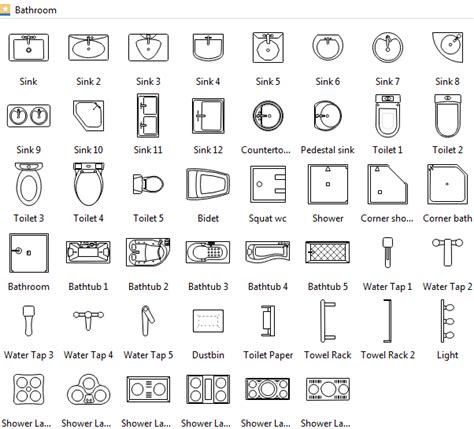 floor plan icons floor plan symbols