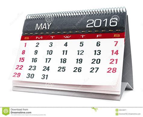 Calendrier 5 Mai 2016 Mai 2016 Calendrier De Bureau Illustration Stock Image