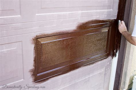 Hometalk Have A Worn Painted Aluminum Garage Door Stain It Paint Aluminum Garage Door