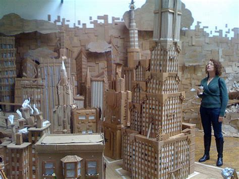 How To Make A City Out Of Paper - paper crafty 12 cardboard artists think outside the box