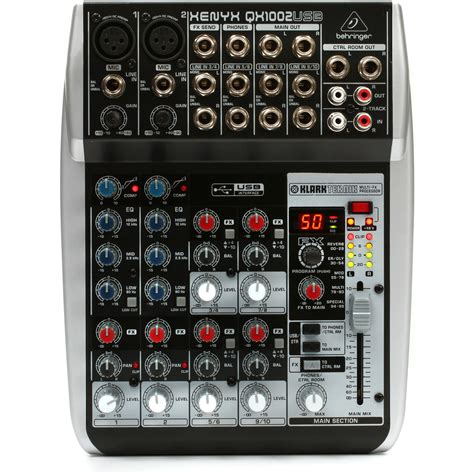 Mixer Xenyx behringer xenyx qx1002usb premium 10 input 2 mixer at