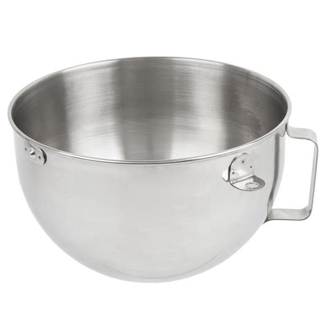 Bowl With Handle kitchenaid kn25wpbh polished stainless steel 5 qt mixing