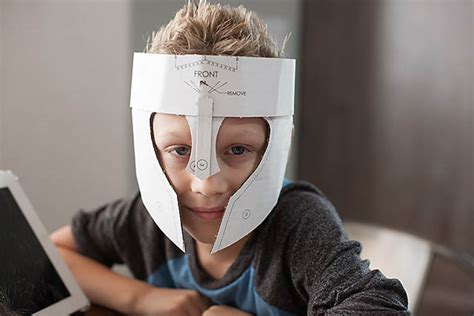 crafteeo diy cardboard warrior helmets all for the boys
