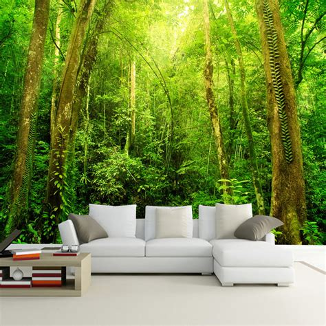 hd wall murals scenery 3d hd large wall mural forest photo wallpaper living room landscape home