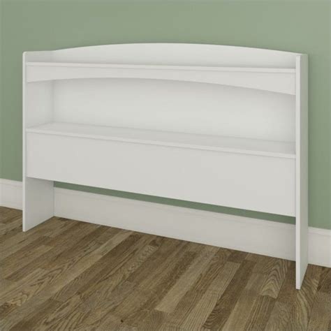full size bookcase headboard vichy full size bookcase headboard in white 3653