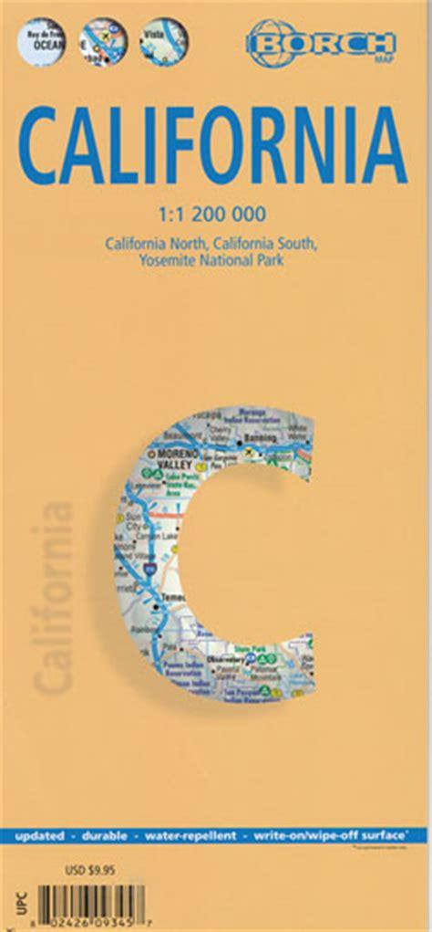 california map book california map borch maps books travel guides buy