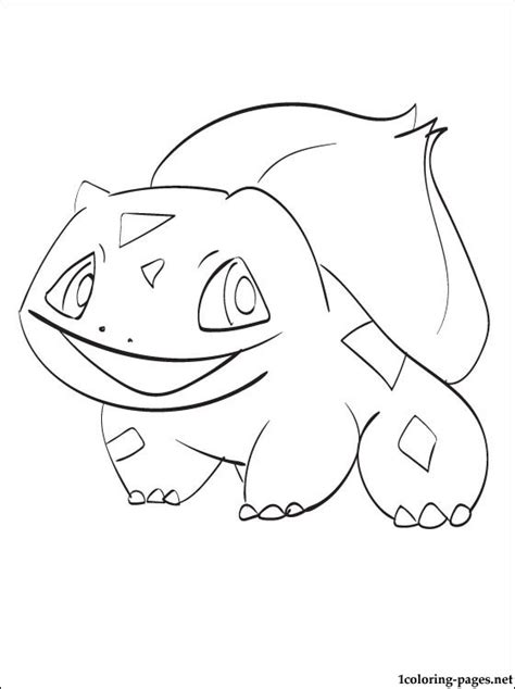 pokemon coloring pages of bulbasaur free coloring pages of bulbasaur color page